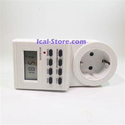Alat Ukur Ac Listrik Voltmeter Digital Stop Kontak Pln T1310 stop kontak timer digital antel ical store ical store