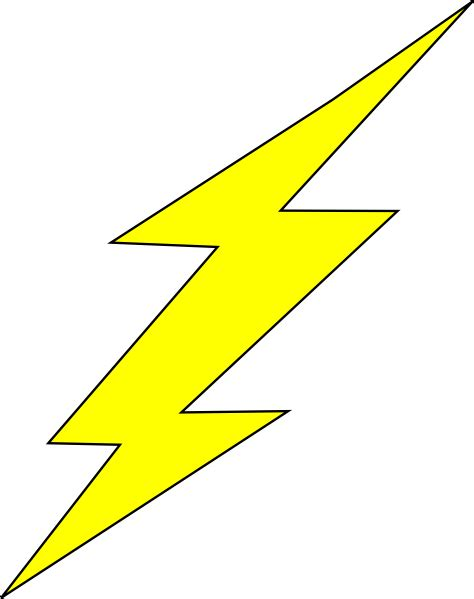 Flash Lightning Bolt Outline by Flash Bolt2 Clip At Clker Vector Clip Royalty Free Domain