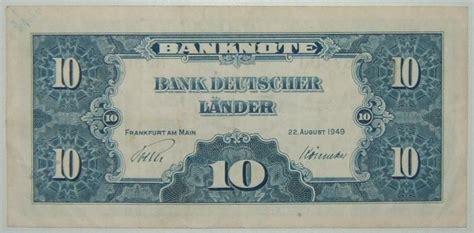 landers bank world non israeli banknotes germany 10 marks banknote