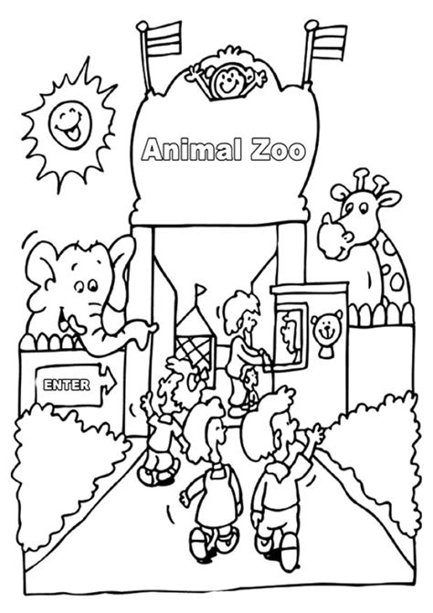 zoo coloring pages printable free printable zoo coloring pages for kids sketch coloring