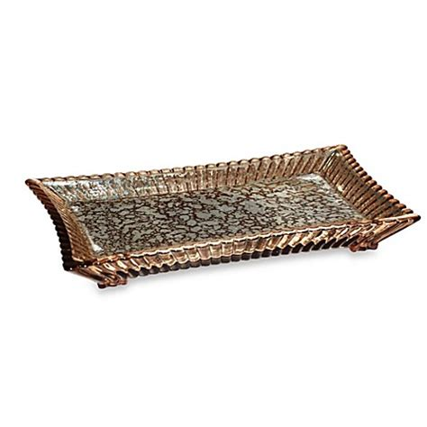 bathroom vanity trays wamsutta sophia bronze vanity tray bed bath beyond