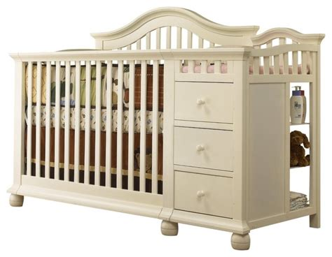 The Crib by Sorelle Cape Cod Crib N Changer White Modern