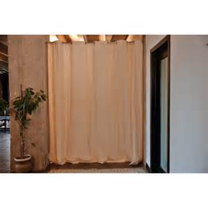 Fabric Room Divider Roomdividersnow Ivory Fabric Curtain Room Divider Do Not Use At Hayneedle