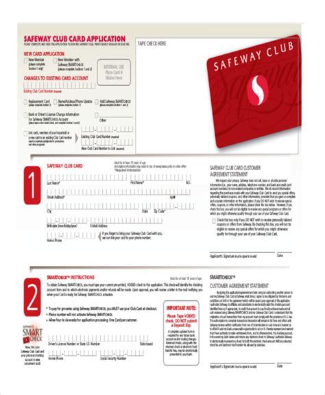 safeway application form sle safeway application form 7 free documents in pdf