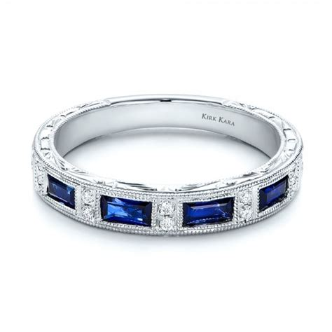 Wedding Bands Sapphire by Blue Sapphire Wedding Band With Matching Engagement Ring