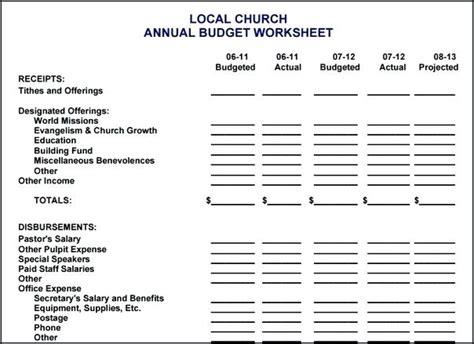 Church Budget Template Virtuart Me Church Budget Template Excel