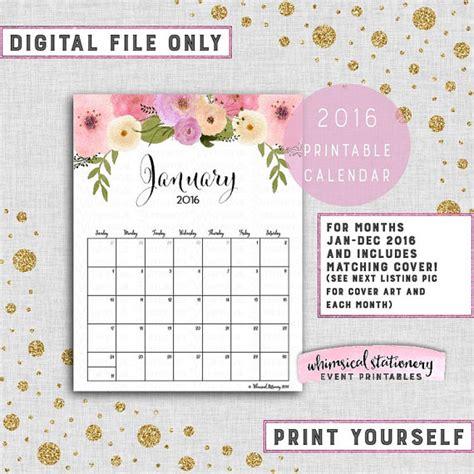 printable calendar 2016 pink 7 best images of blank calendar printable pink flowers
