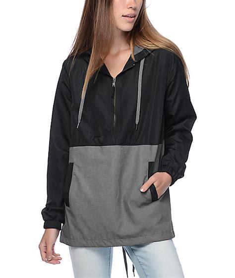 Jaket Parka Hiacket Black X Grey empyre quin grey suede black lined windbreaker jacket at zumiez pdp