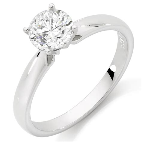 solitaire engagement ring with a 1 1 2 carat in