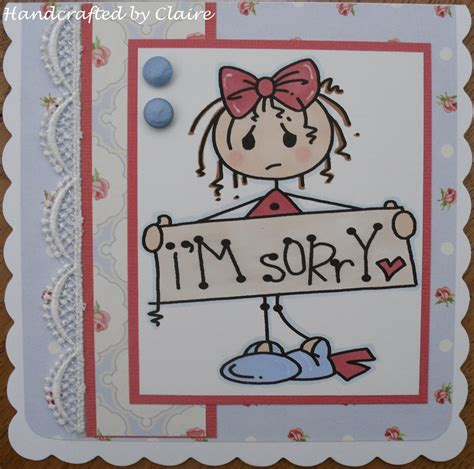 Sorry Cards Handmade - handcrafted i m sorry card by day by claireday1969