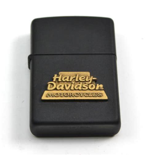 Vintage Harley Davidson Zippo Lighters by Vintage Harley Davidson Gold Black Matte Emblem Zippo