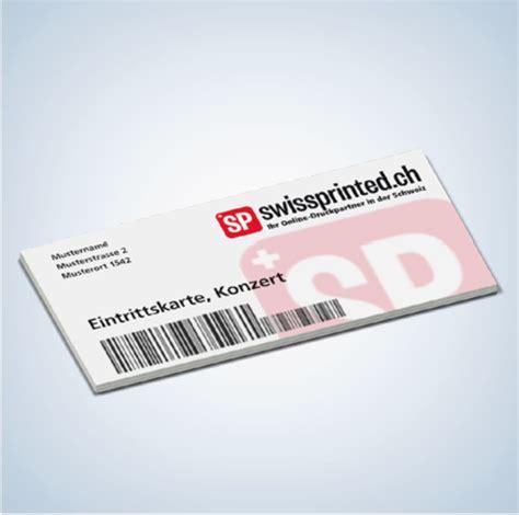 Visitenkarten Drucken Schweiz by Eintrittskarten Drucken