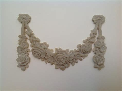 shabby n chic french provincial vintage furniture applique large rose wreath ebay
