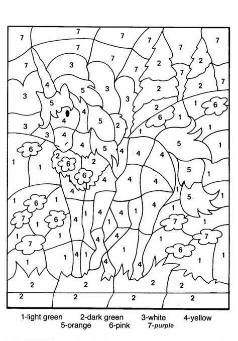 pages by number free printable color by number coloring pages best
