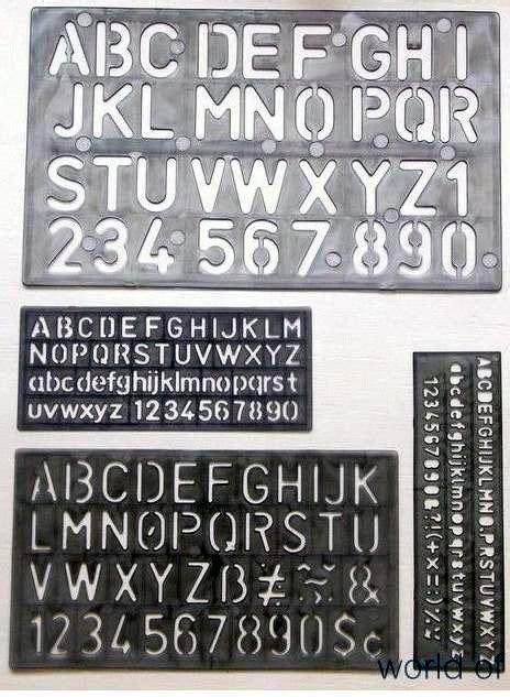 lettere romani set di 4 stencils letter numeri e simboli