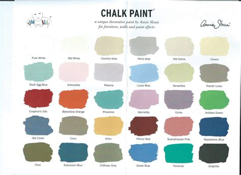 sloan color chart miss phoebe s perch birdsong cottage furniture single