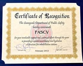safety recognition certificate template associates of santa clara valley associates