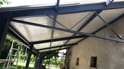 tettoie in ferro zincato stunning tettoia costruita con struttura zincata e