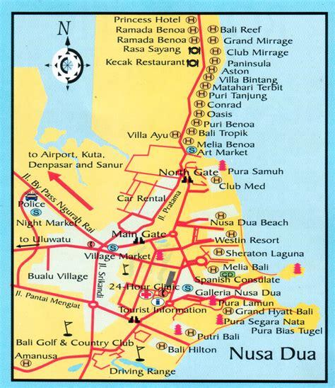 bali map nusa dua all about bali tour and travel destination nusa dua