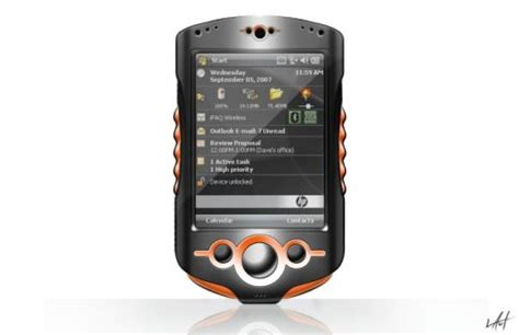 Hp Htc Concept Hp Ipaq Phone Pda Designed By Michael Laut Concept Phones