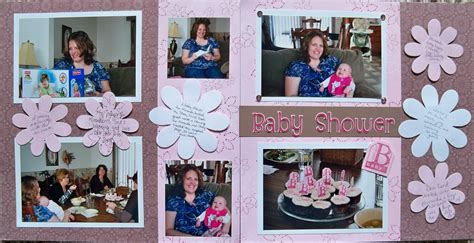 Baby Shower Scrapbook Pages by Baby Shower Layout My Scrapbooking