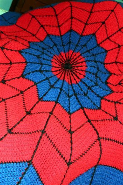 pattern for spiderman spider spiderman afghan blanket link to free crochet pattern