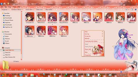 new year theme windows 7 theme win 7 new year 2014 by 峰峰酱