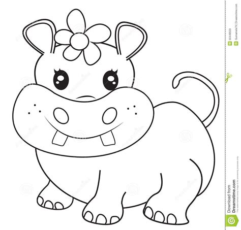 cute hippo coloring page hippos free colouring pages