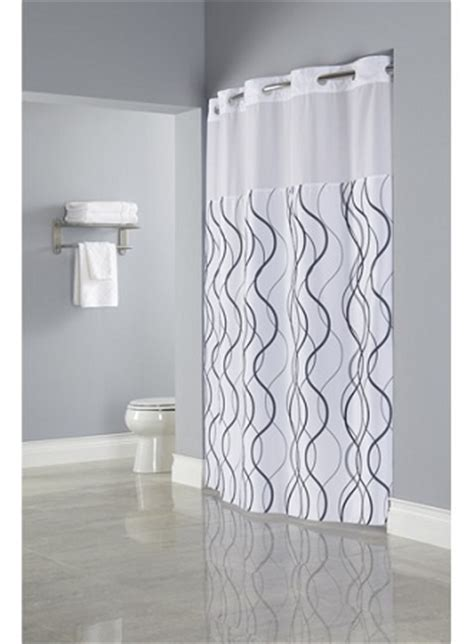 hotel shower curtains hookless hookless 174 waves sheer polyester shower curtain with window