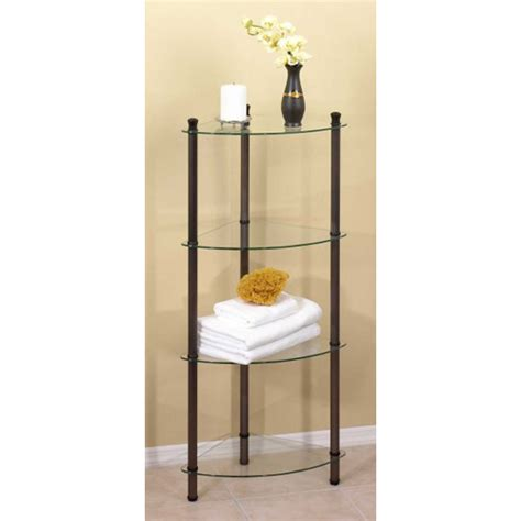 Free Standing Corner Shelf by 4 Tier Corner Shelving Table In Free Standing Shelves