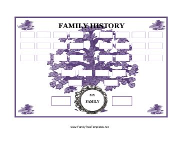 Family Tree Template Family Tree Template Editable Free Free Family History Templates