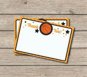 basketball thank you note basketball thank you card