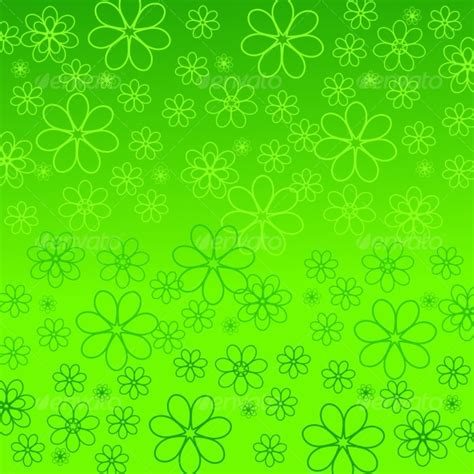 Motif Flower Hijau daisies silhouettes by trinochka graphicriver