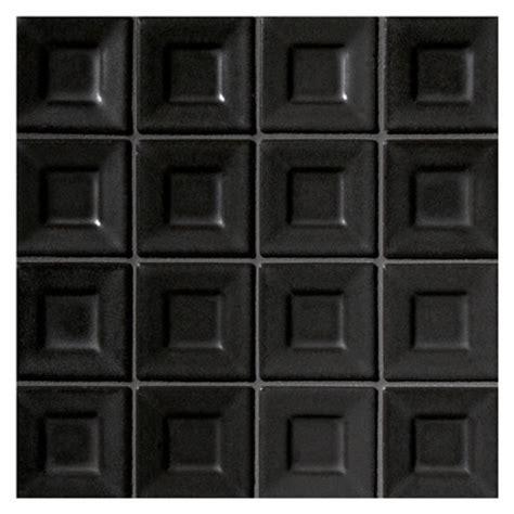 dimensional mosaic tile ceramics   geo black satin