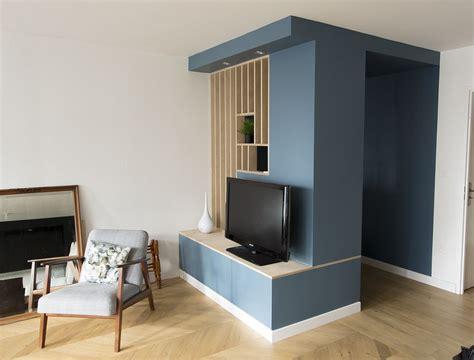 Deco Mur Salon 3655 by Meuble D Entr 233 E Tv Ikea Hack Cp Bouleau Filtre