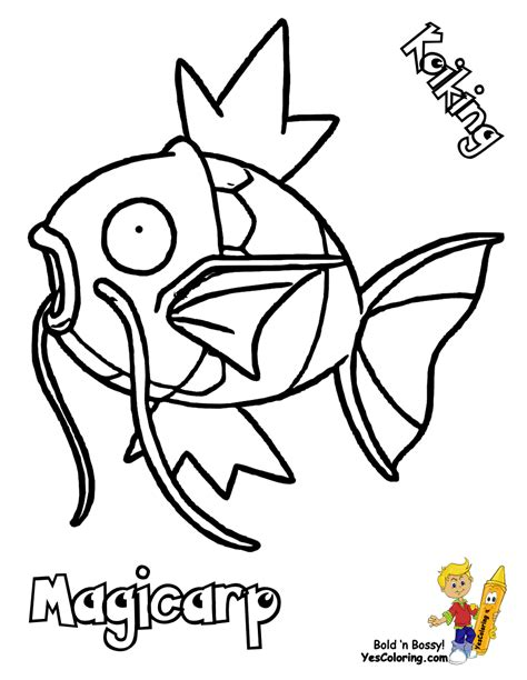 pokemon coloring pages magikarp famous pokemon coloring goldeen mew free kids
