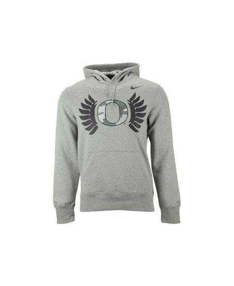 Jaket Sweater Hoodie Oregon Hoodies Home Clothing nike s oregon ducks fly hoodie in gray for lyst