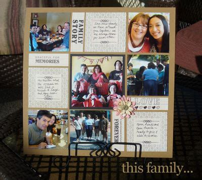 scrapbook collage layout ideas family scrapbook ideas mosaic moments photo collage system