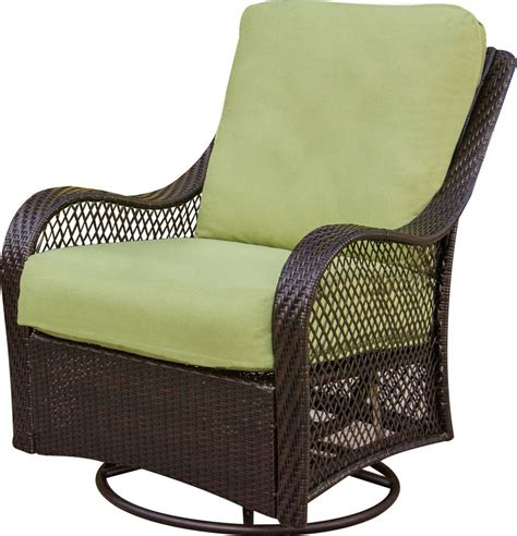 Hanover Orleans 3 Piece Outdoor Bistro Set With Swivel Outdoor Swivel Glider Chairs