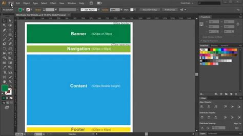 adobe illustrator cs6 use creating a website wireframe with adobe illustrator cs6