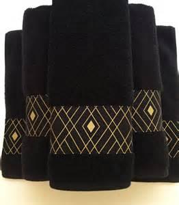black and gold bath towels black gold towels custom towels black bathroom black