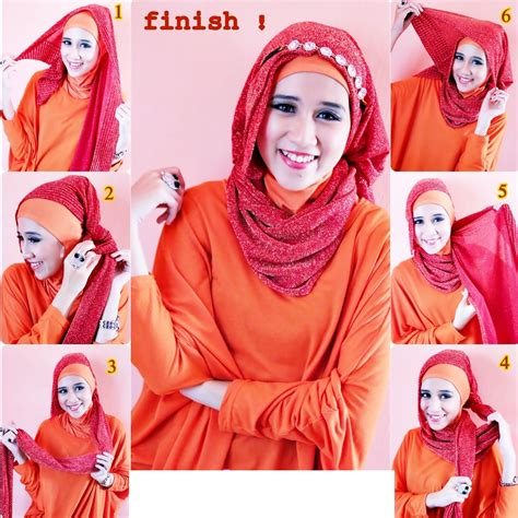 tutorial hijab turban masa kini tutorial hijab untuk pesta modis dan modern model baju