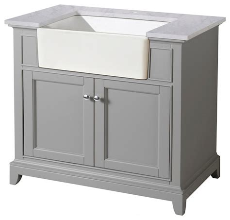 apron sink vanity stufurhome helanah farmhouse apron single sink bathroom