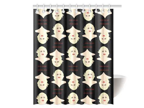 lady gaga shower curtain lady gaga shower curtain original illustration kayci