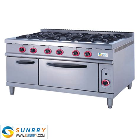 induction cooker or gas commercial indoor stainless steel free standing induction 6 burner cooker gas range with gas