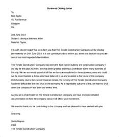 business closure letter sle business letter closings the best letter sle