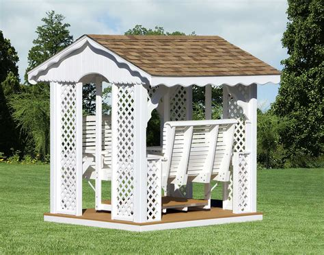 gazebo swing set vinyl gable roof rectangle gazebo swings gazebo swings
