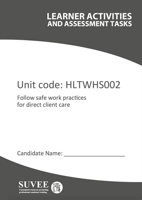 hltwhs follow safe work practices  direct client care suvee aged care training resources