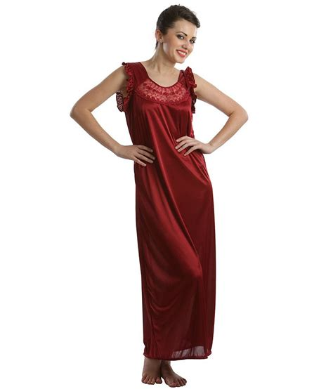 maroon r buy clovia maroon satin nighty online at best prices in