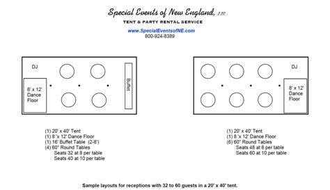 20x40 Tent Layout Download Layout 20 X 40 Tent 32 60 Guests Sc 1 St Special Events Tent Layout Template